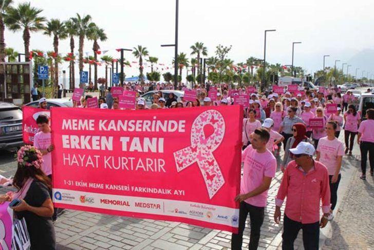17 Ekim 2018 Çarşamba Meme Kanseri Farkındalık Yürüyüşü Antalya Konyaaltı