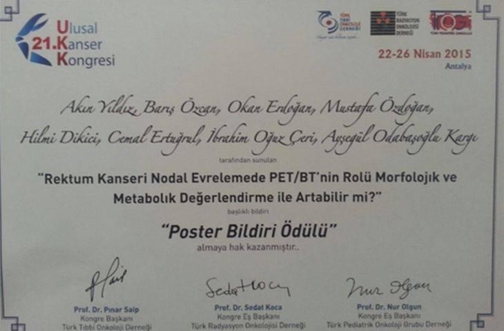 21. Ulusal Kanser Kongresi ve Memorial-Medstar Antalya Kanser Merkezi Ekibimizin Başarıları