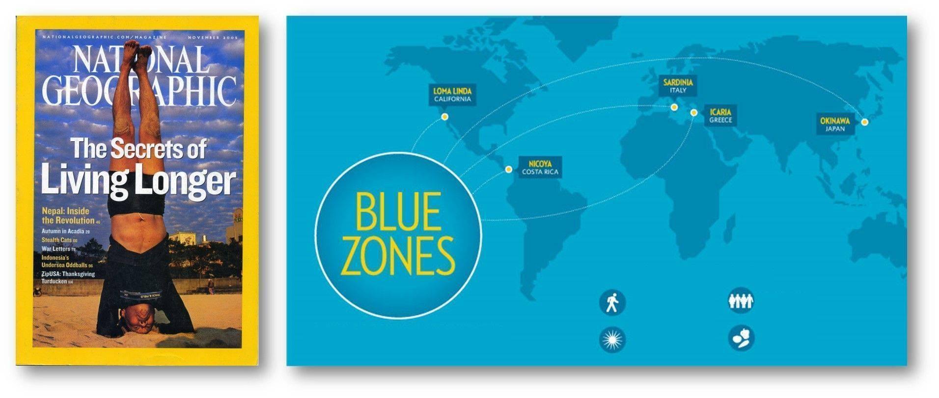 Blue zones national geographic mavi bölgeler en uzun yaşayan insanlar