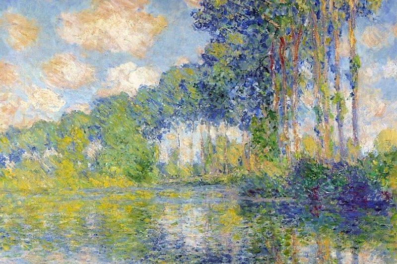 Poplars at the Epte Claude Monet