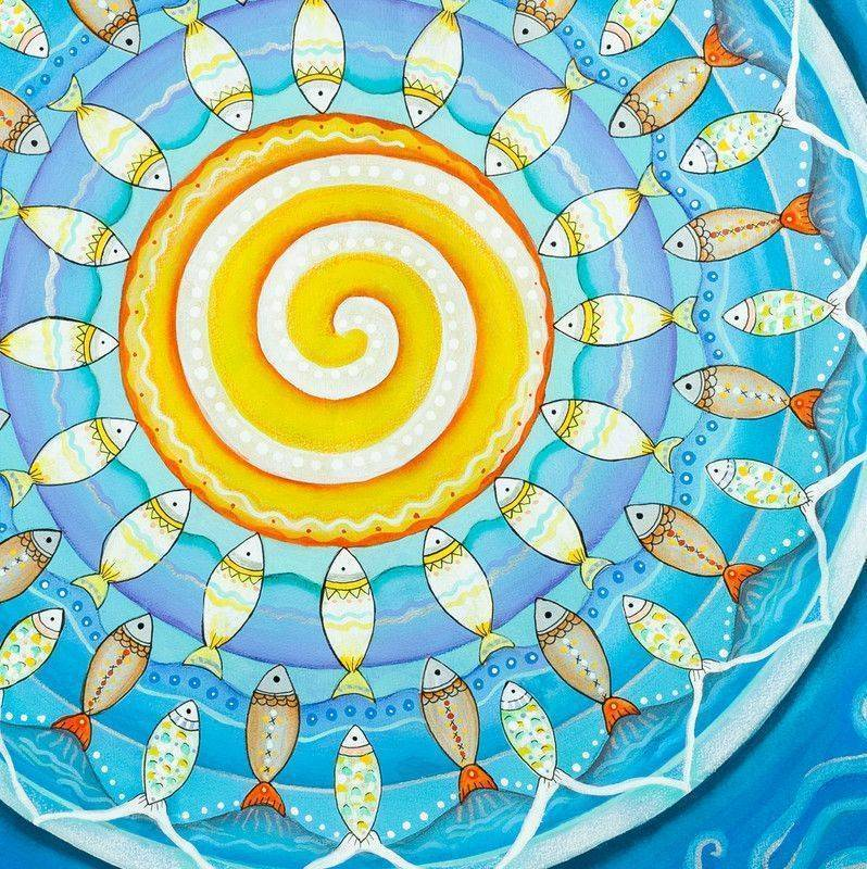 Sanat terapisi Mandala ile rahatlama gevşeme