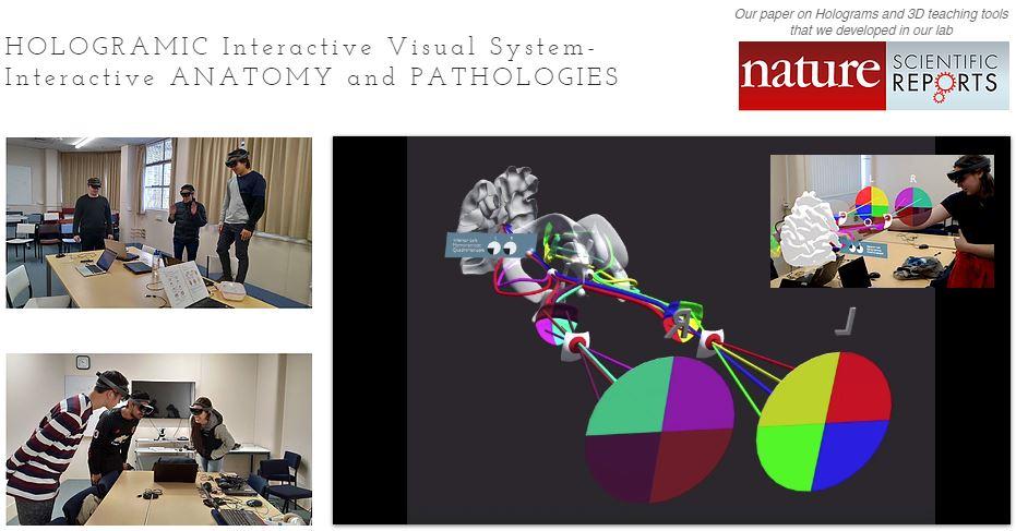 cakmak lab çalışması hololens ile nöroanatomi eğitimi