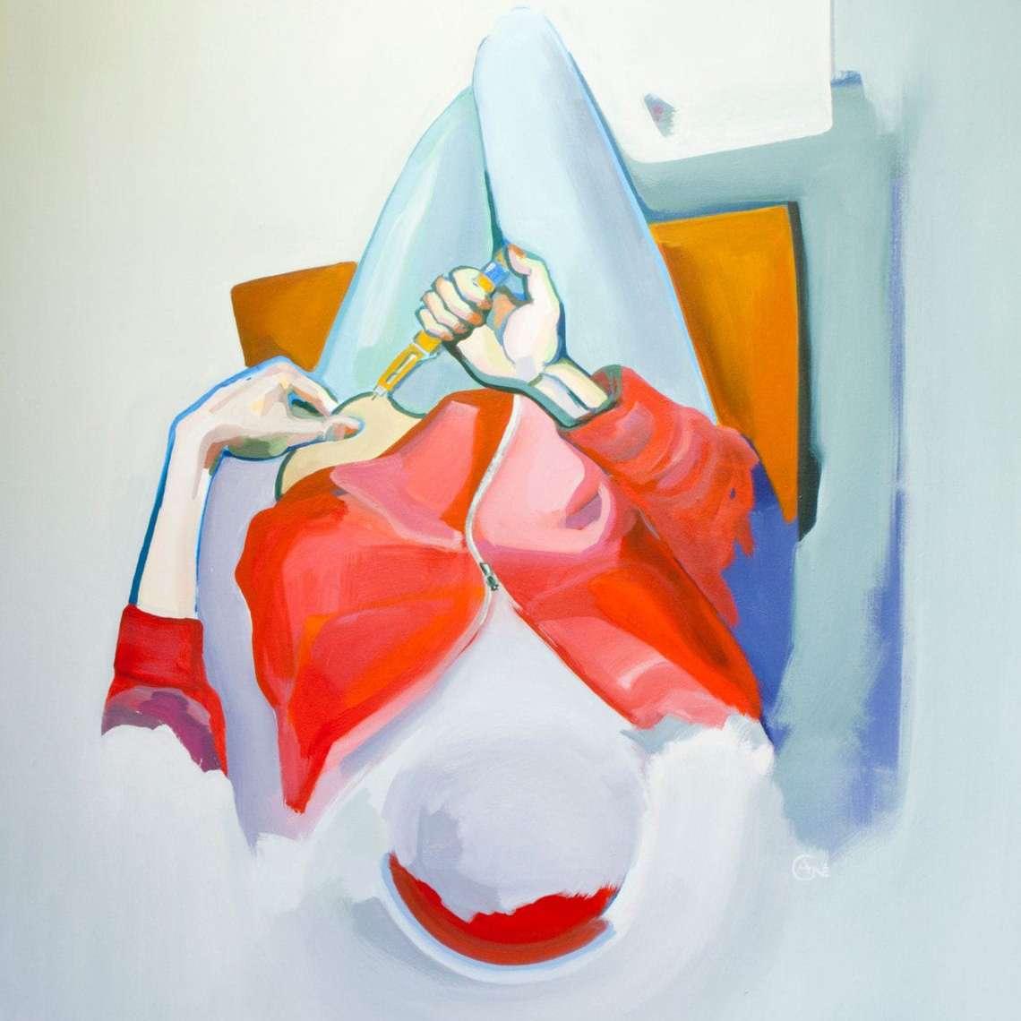 diyabet sanat artist Agne Kisonaite