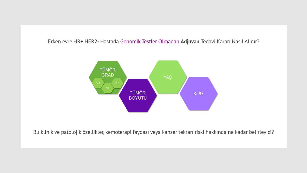 erken evre HR+HER2  hastada genomik testler olmadan adjuvan tedavi karari nasil alinir