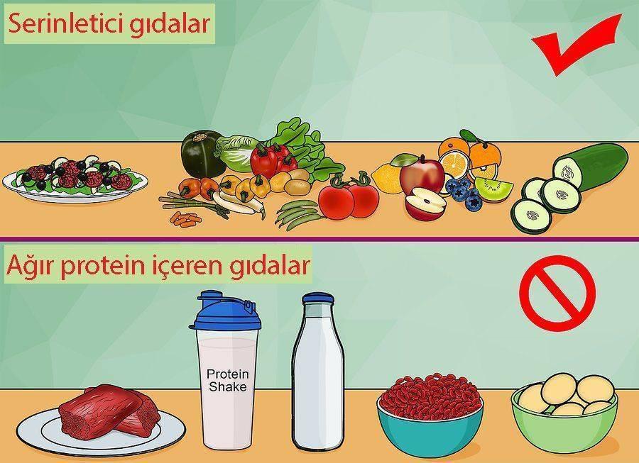 freş ve serinletici gıdalar tüketin