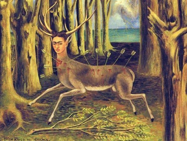 frida kahlo yaralı bir geyik