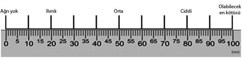 görsel analog skala 0 mm ağrı yok 100 mm en şiddetli ağrı