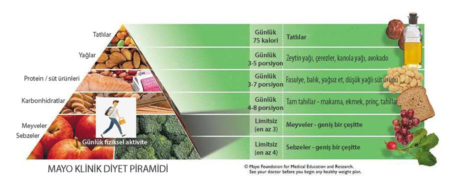 mayo klinik diyet piramidi
