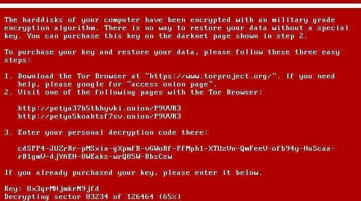 petya virusu siber saldırı ekran goruntusu fidye