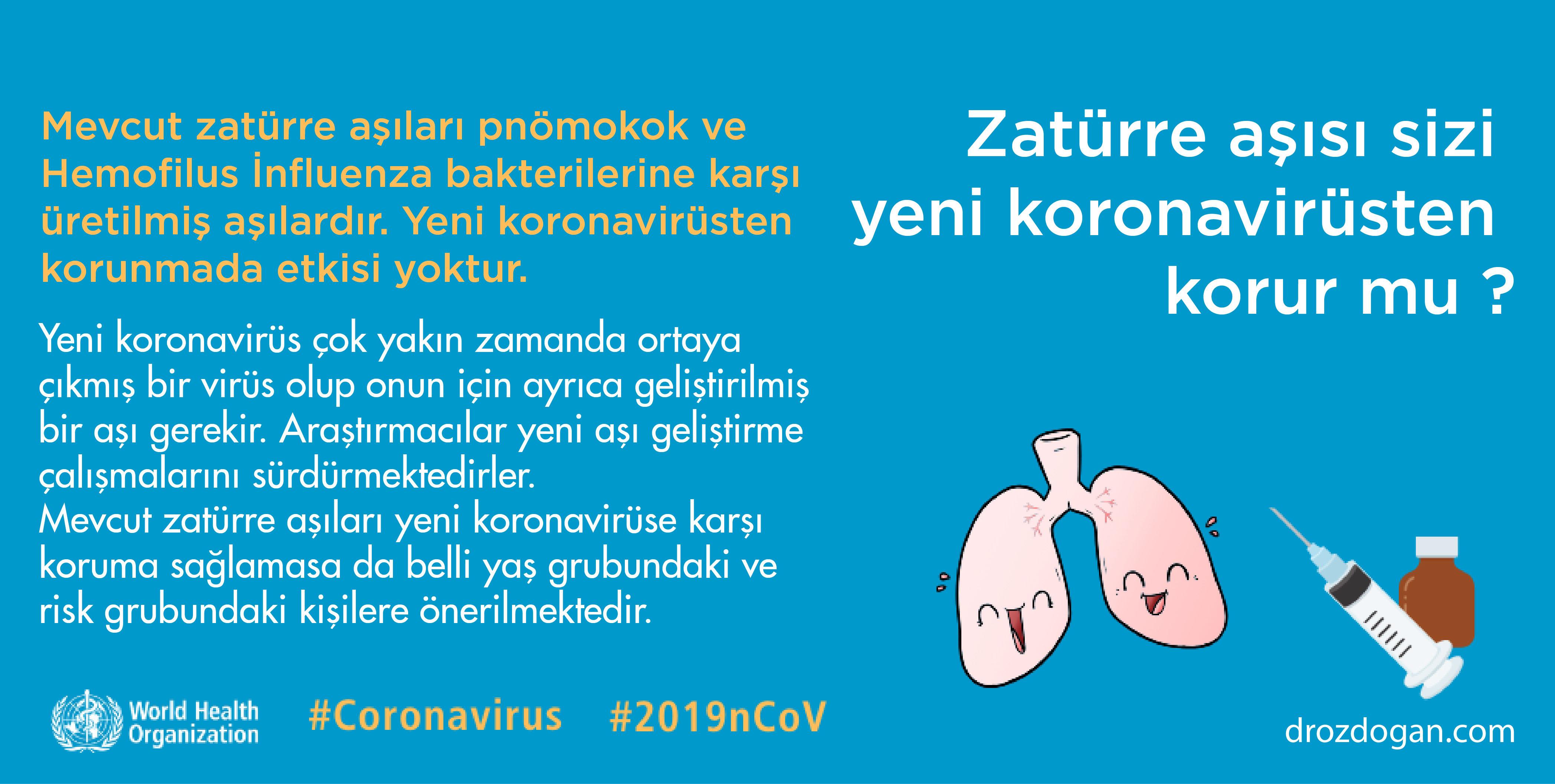 pnömokok aşısı yeni koronavirüsten korur mu