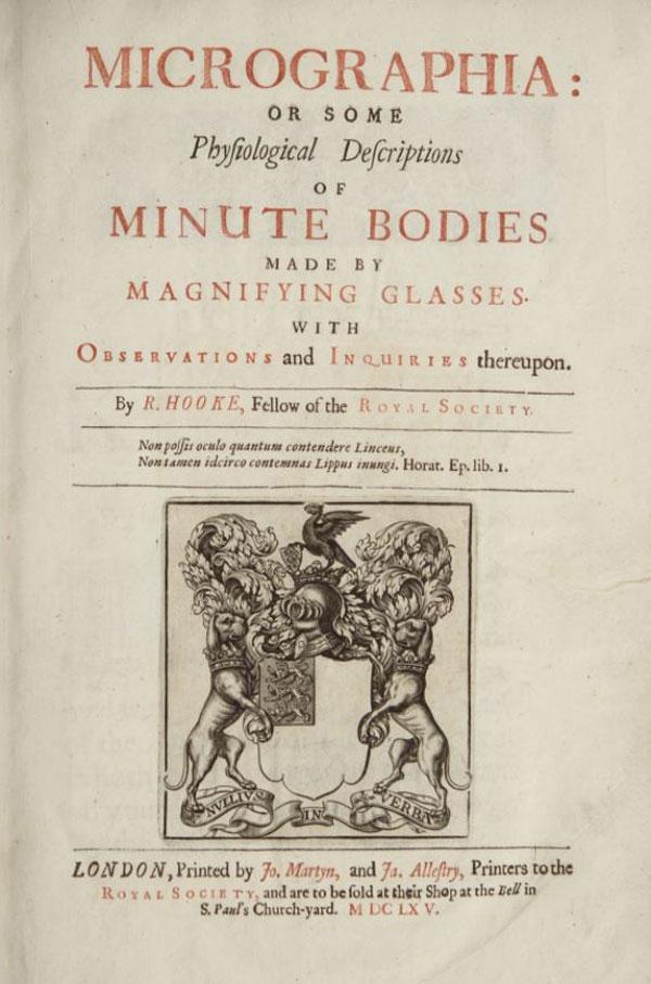 robert hook mikrografi kitabı kapağı