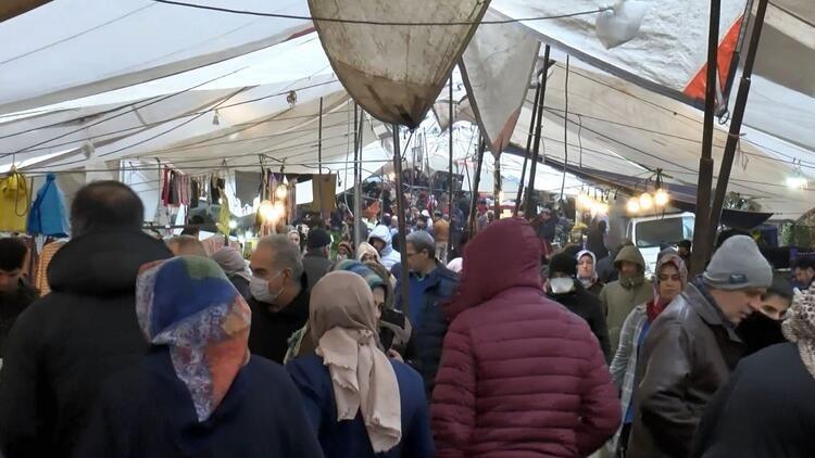 semt pazarlarında kalabalık koronavirüs salgınına rağmen devam ediyor
