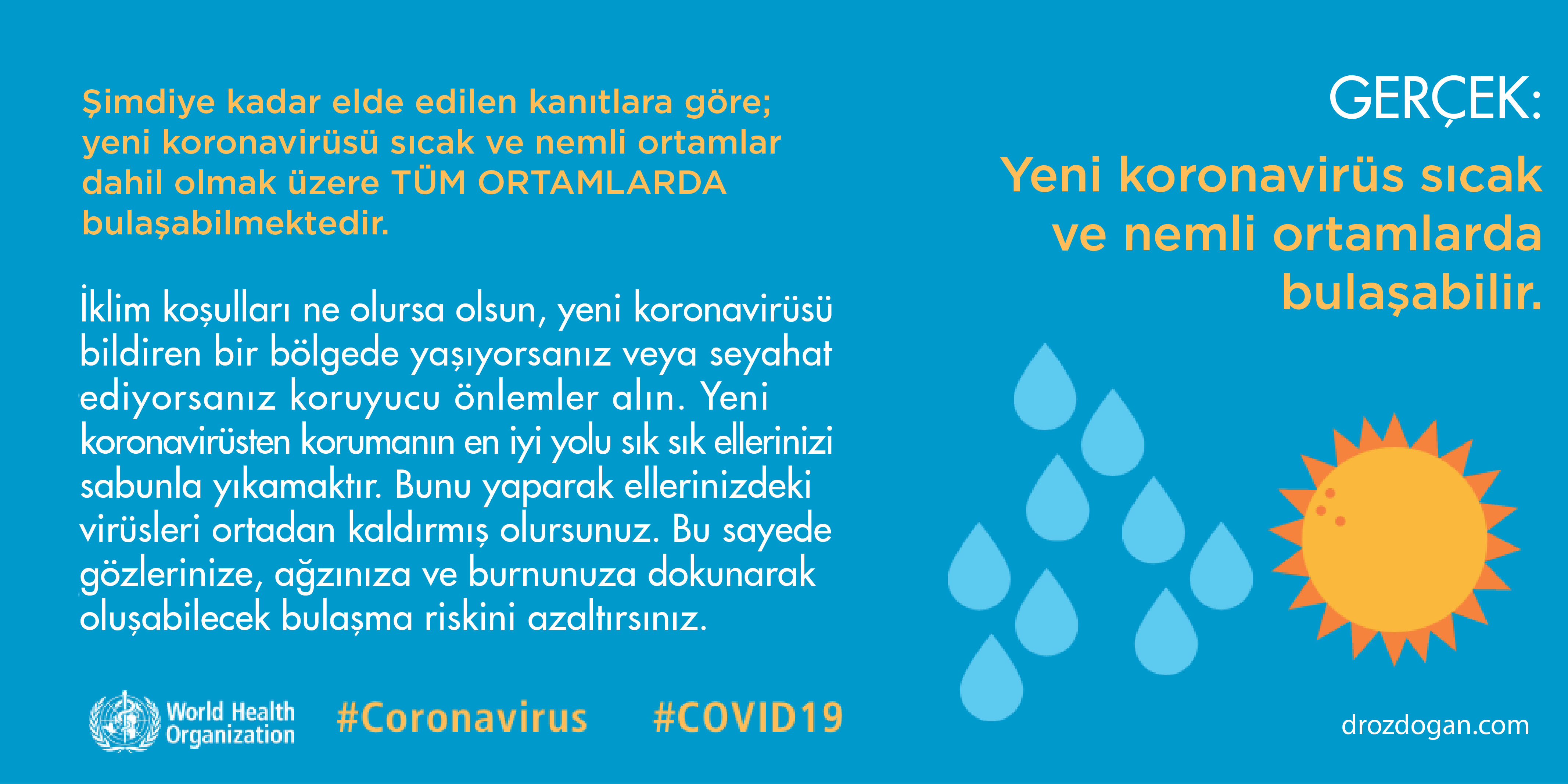 yeni koronavirüs sıcak ve nemli ortamlarda bulaşabilir mi